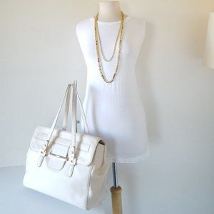 DKNY Handbag FULL SIZE Satchel Ivory Leather